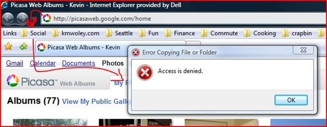 how to copy favorites list from internet explorer