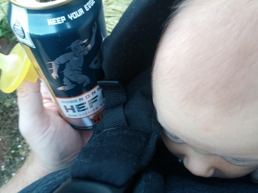 Pacifier, Baby Bjorn, Beer. Only one of these is working.